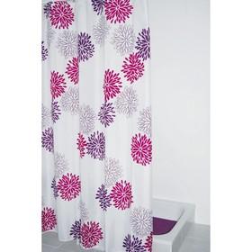 Штора для ванной комнаты Sandra, цвет фиолетовый 180х200 см