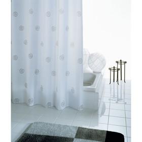 Штора для ванной комнаты Univers, цвет белый 180х200 см