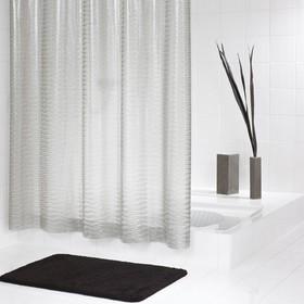 Штора для ванной комнаты Silk полупрозрачная 180х200 см