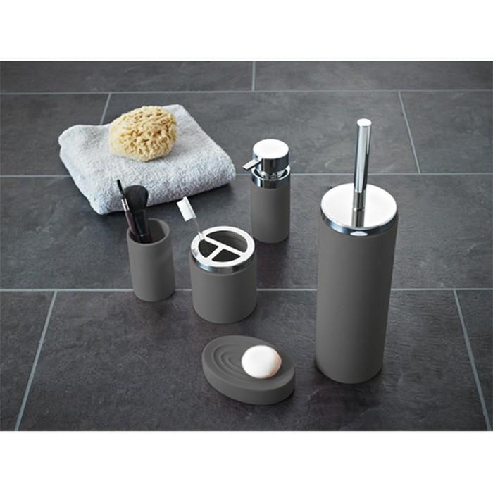 Дозатор для жидкого мыла Elegance, цвет серый