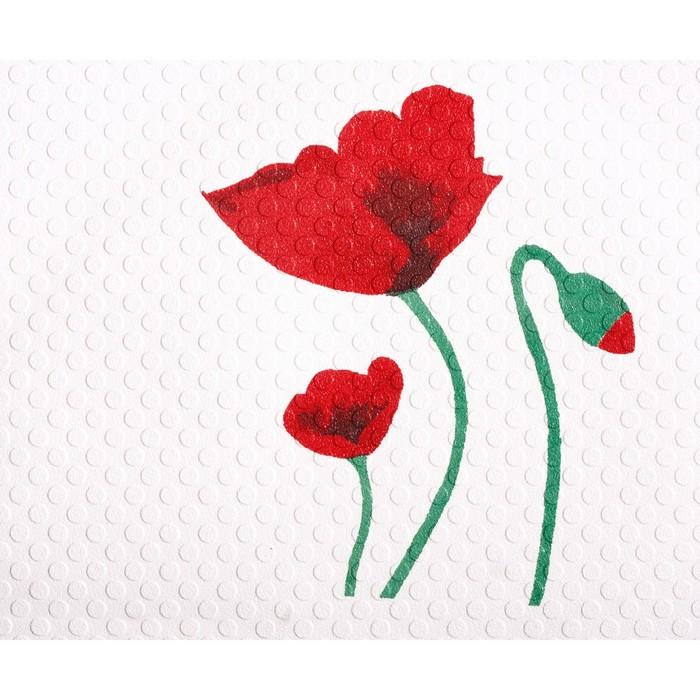 SPA-коврик противоскользящий 54х54 см Mohn, цвет красный
