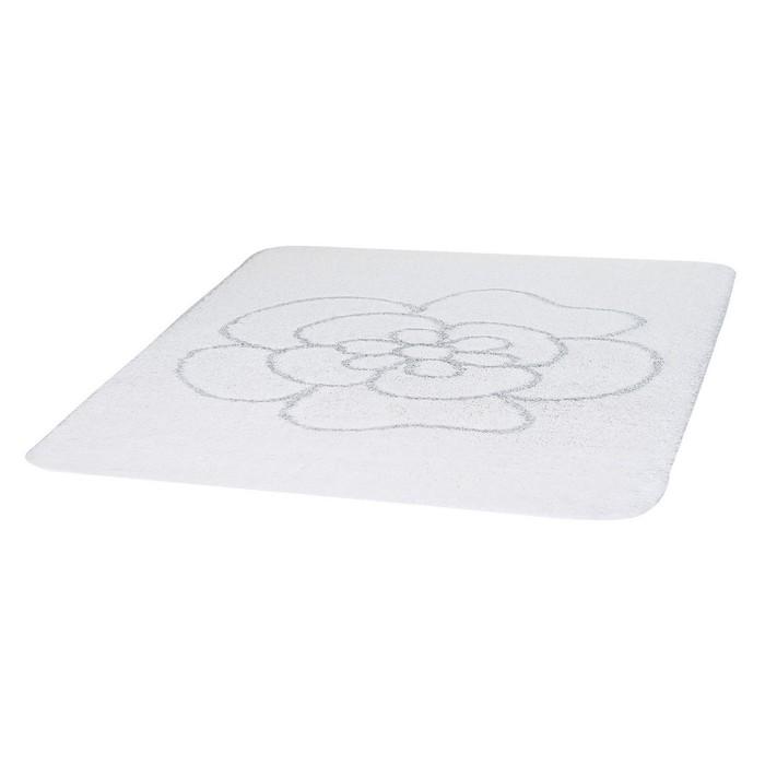 Коврик для ванной комнаты Diamond, цвет белый 55х50 см
