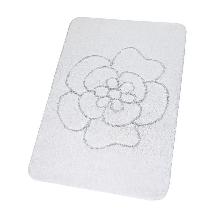 Коврик для ванной комнаты Diamond, цвет белый 60х90 см