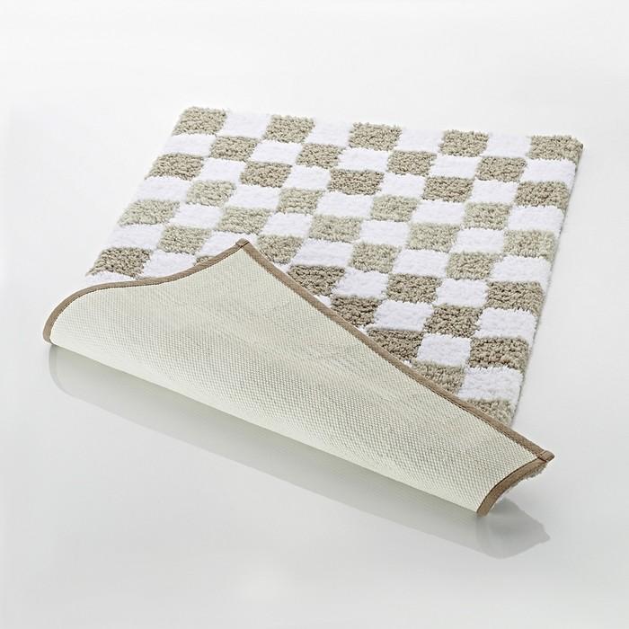 Коврик для ванной комнаты Grand Prix, цвет бежевый/коричневый 55х50 см
