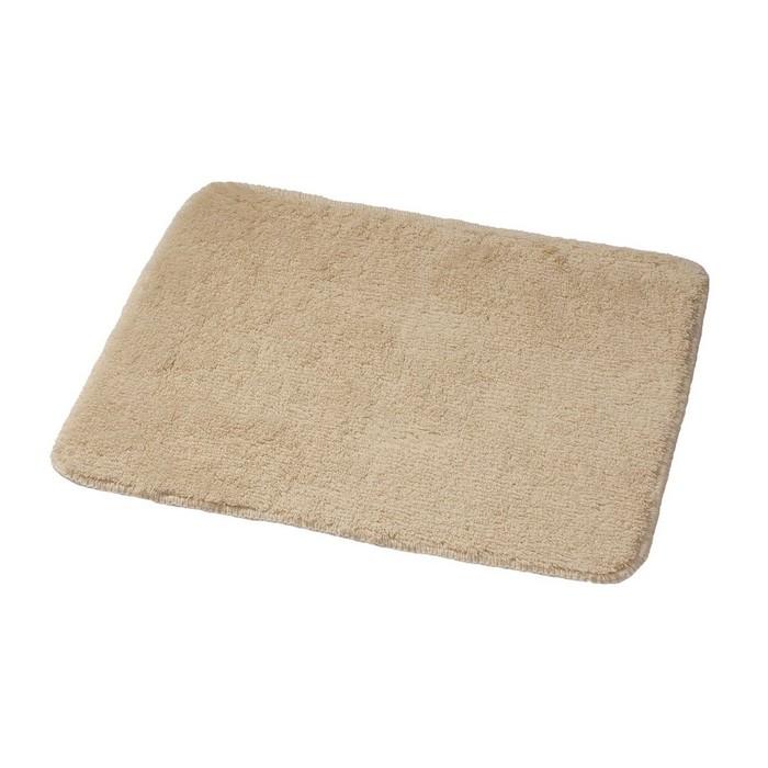 Коврик для ванной комнаты Palma, цвет бежевый/коричневый 55х50 см