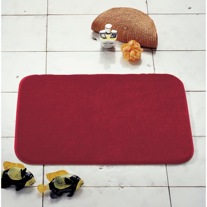 Коврик для ванной комнаты Palma, цвет красный 55х50 см