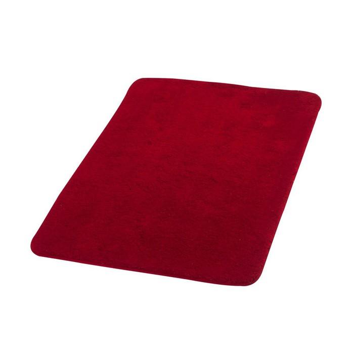 Коврик для ванной комнаты Palma, цвет красный 60х90 см