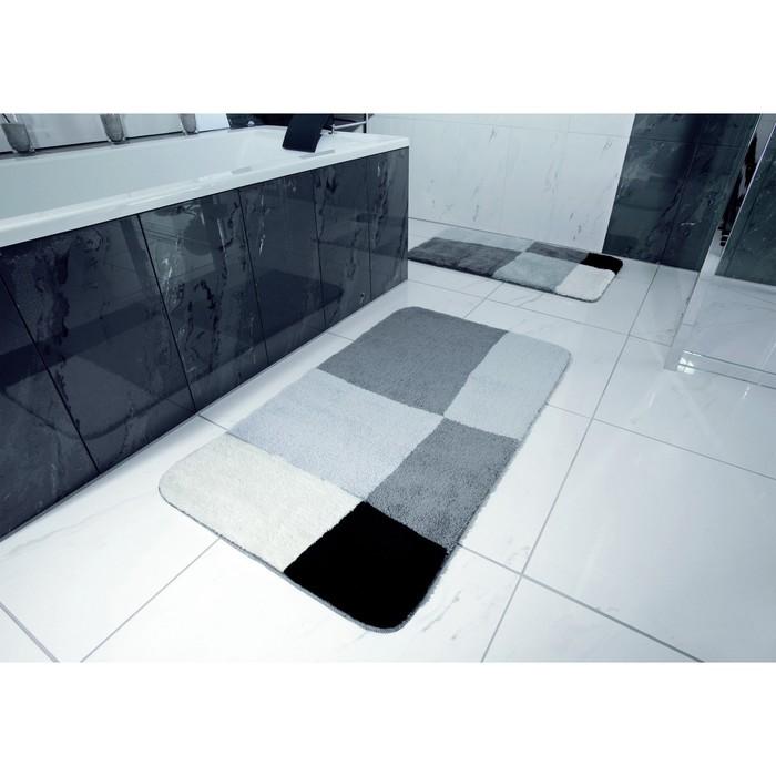 Коврик для ванной комнаты Pisa, цвет серый 50х50 см