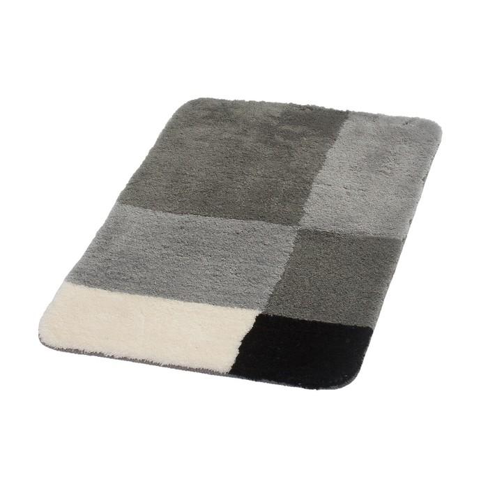 Коврик для ванной комнаты Pisa, цвет серый 60х90 см