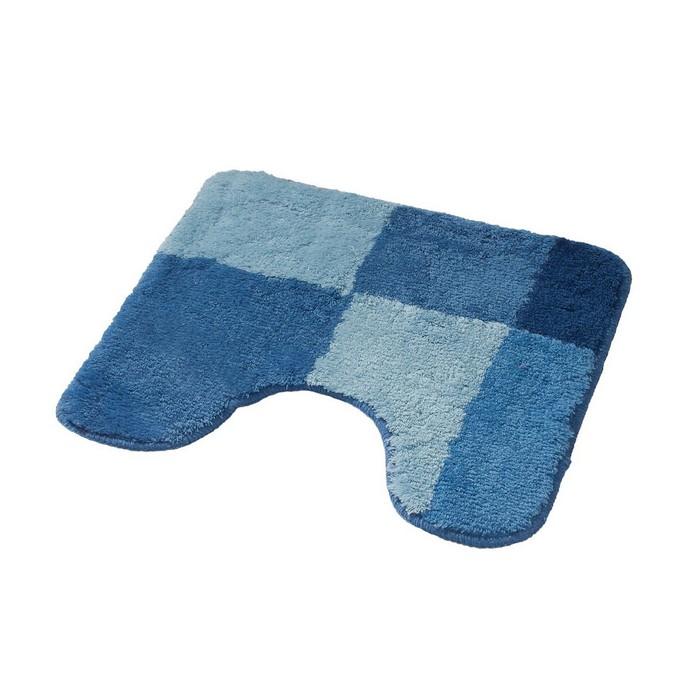 Коврик для ванной комнаты Pisa, цвет синий/голубой 50х50 см