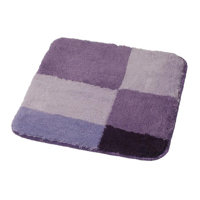 Коврик для ванной комнаты Pisa, цвет фиолетовый 55х50 см