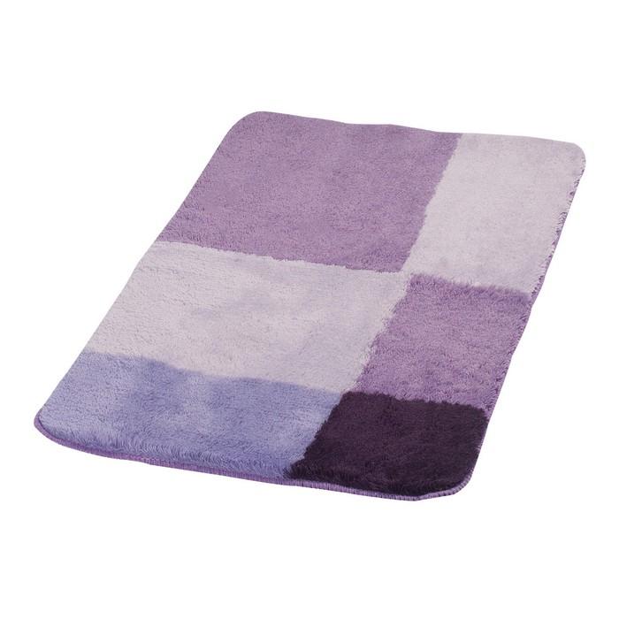 Коврик для ванной комнаты Pisa, цвет фиолетовый 70х120 см