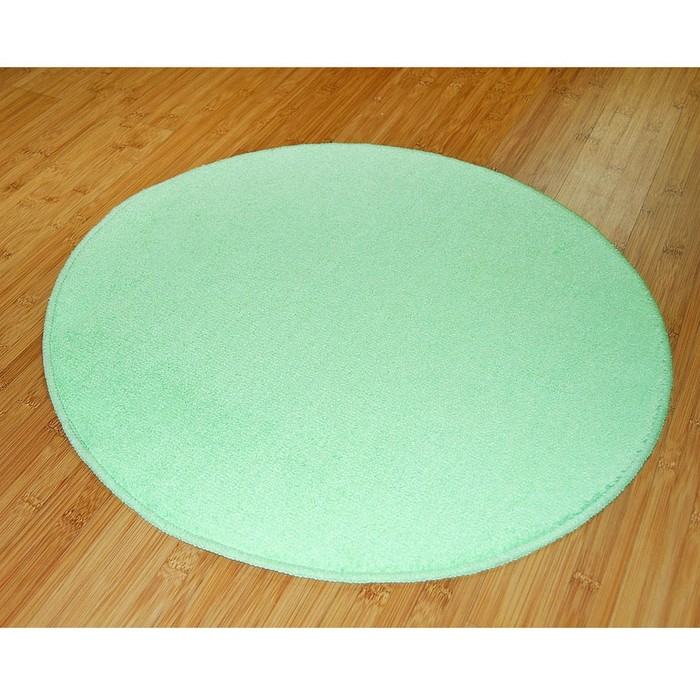 Коврик для ванной комнаты Round, цвет зеленый, Д 60 см см