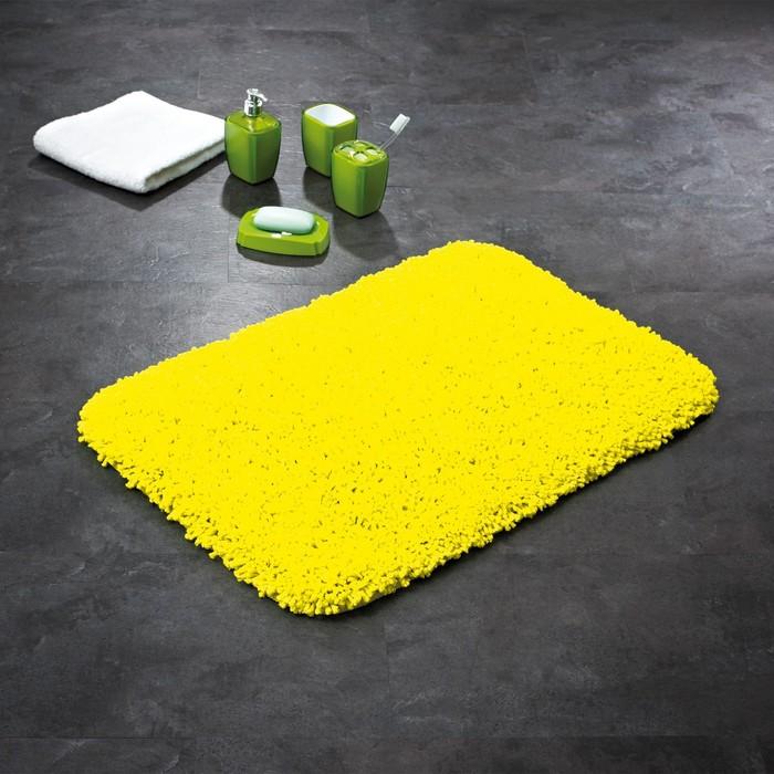 Коврик для ванной комнаты Softy, цвет желтый 50х75 см
