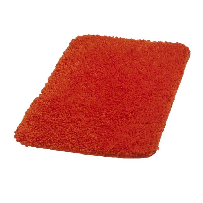 Коврик для ванной комнаты Softy, цвет оранжевый 50х75 см