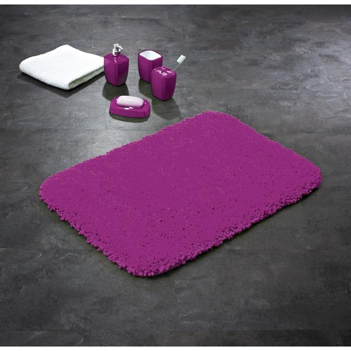 Коврик для ванной комнаты Softy, цвет фиолетовый 50х75 см