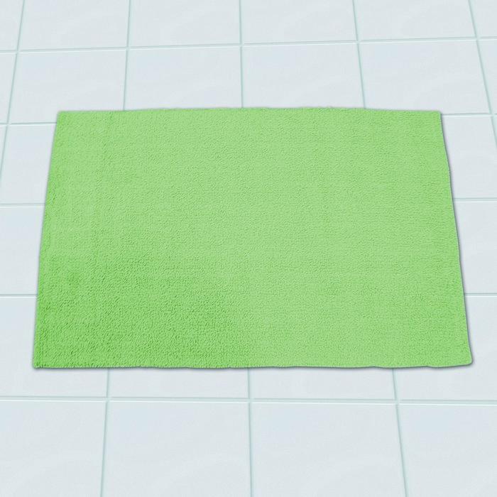 Коврик для ванной комнаты Solid, цвет зеленый 55х85 см