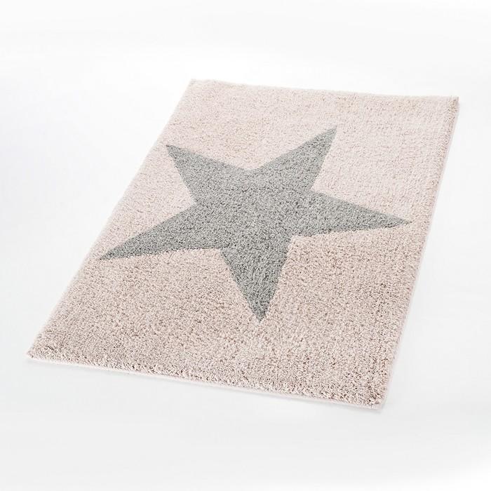 Коврик для ванной комнаты Star, цвет розовый 55х50 см