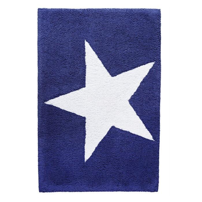 Коврик для ванной комнаты Star, цвет синий 60х90 см
