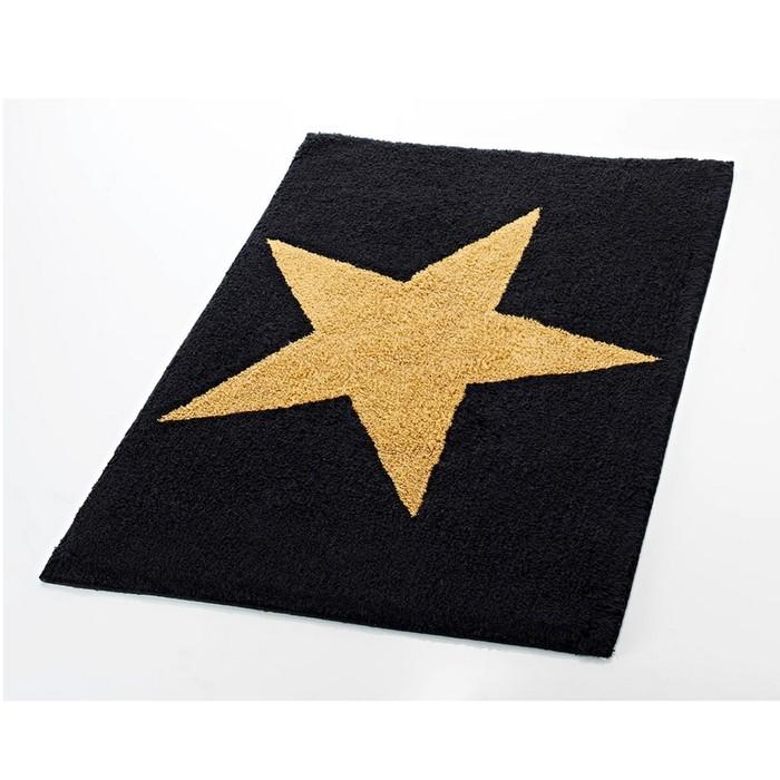 Коврик для ванной комнаты Star, цвет черный 55х50 см