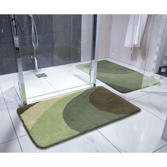 Коврик для ванной комнаты Tokio, цвет зеленый 70х120 см
