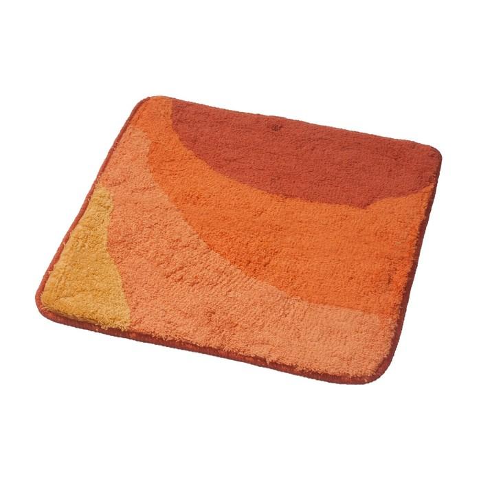 Коврик для ванной комнаты Tokio, цвет оранжевый 55х50 см