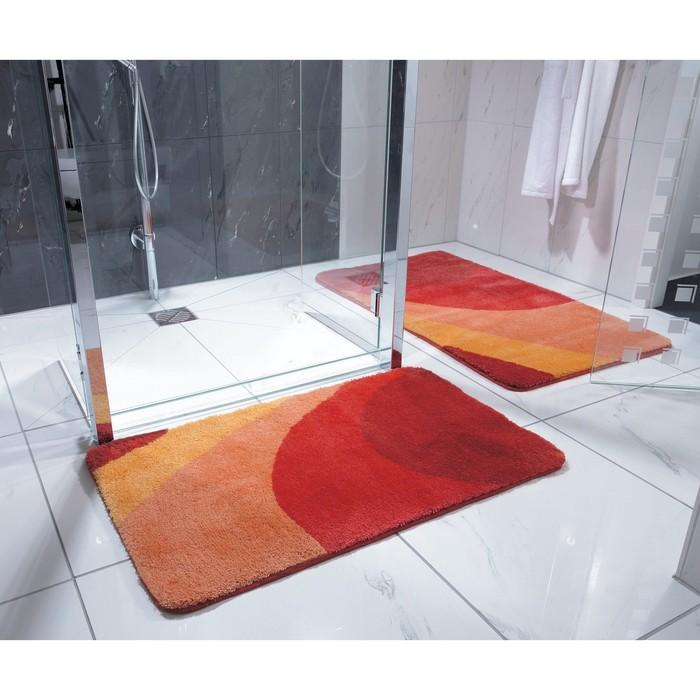 Коврик для ванной комнаты Tokio, цвет оранжевый 60х90 см