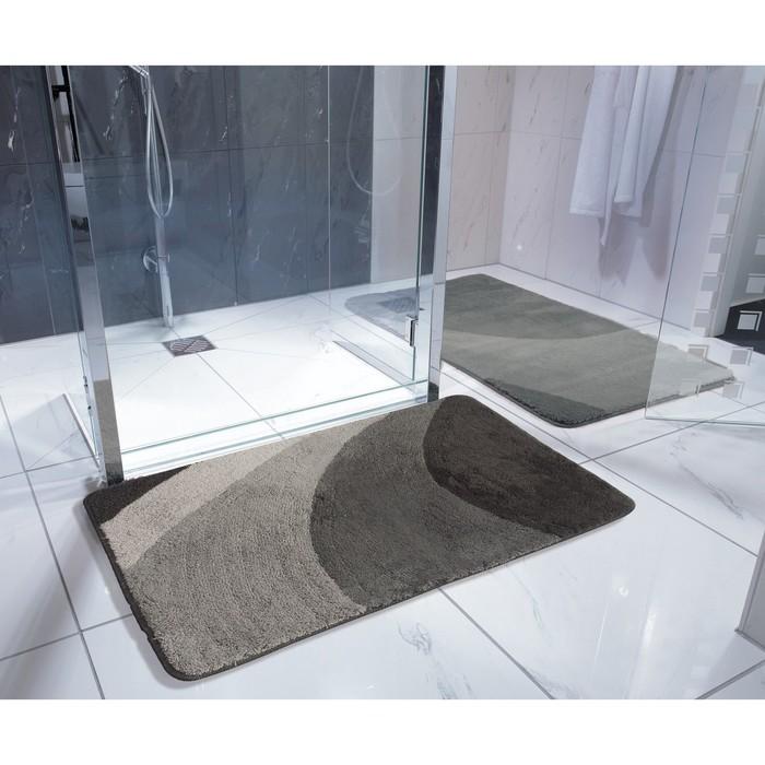 Коврик для ванной комнаты Tokio, цвет серый 50х50 см