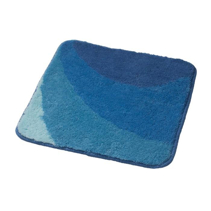 Коврик для ванной комнаты Tokio, цвет синий/голубой 55х50 см