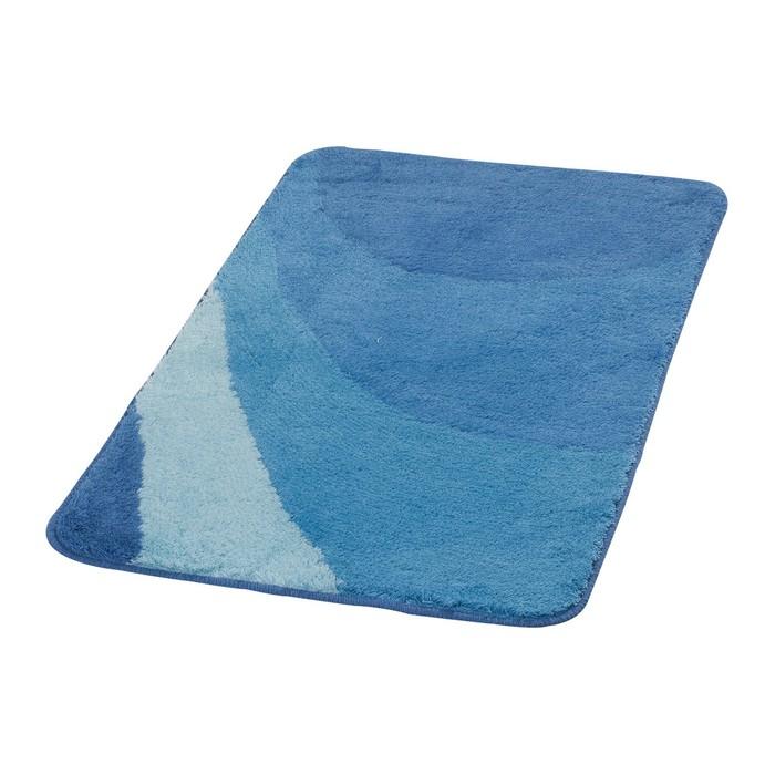 Коврик для ванной комнаты Tokio, цвет синий/голубой 70х120 см