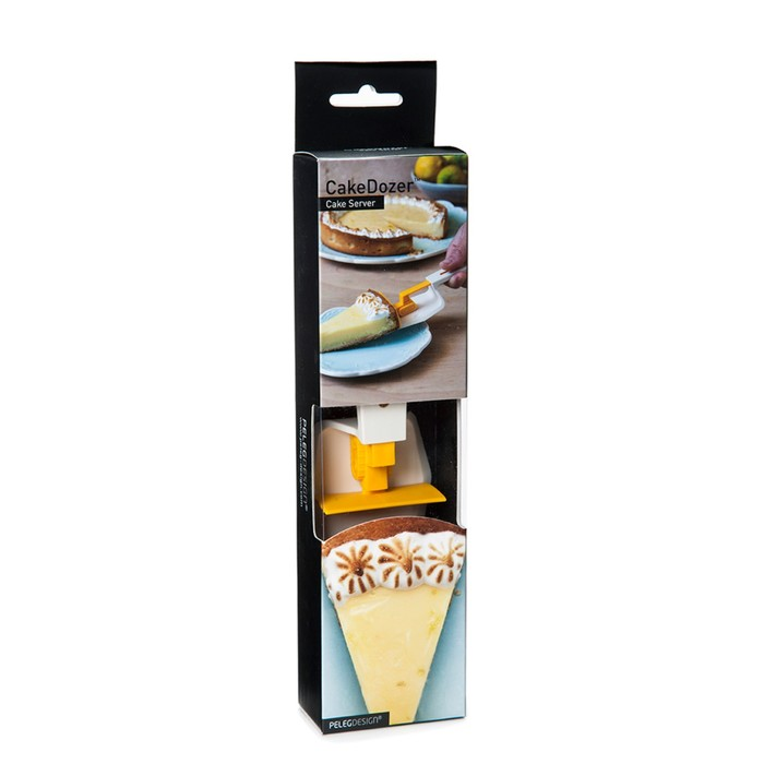 Лопатка для торта cakedozer желтая