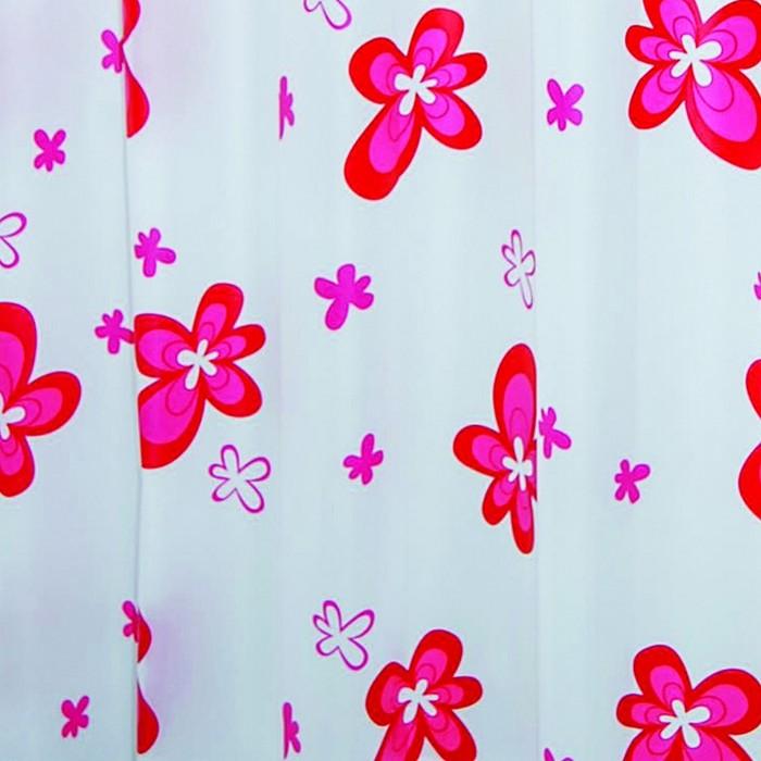 Штора для ванной комнаты Blume, цвет красный 180х200 см