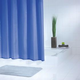 Штора для ванной комнаты Standard, цвет синий/голубой 240х180 см
