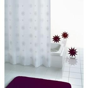 Штора для ванной комнаты Cosmos, цвет белый 180х200 см