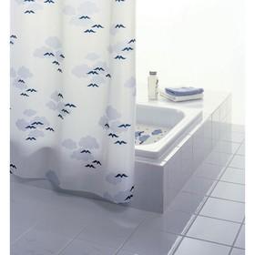 Штора для ванной комнаты Helgoland, цвет синий/голубой 180х200 см