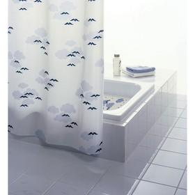 Штора для ванной комнаты Helgoland, цвет синий/голубой 240х180 см