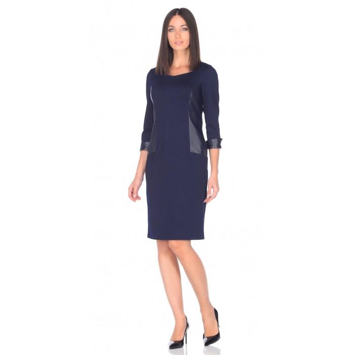 Платье женское, размер 50, цвет синий 476-1