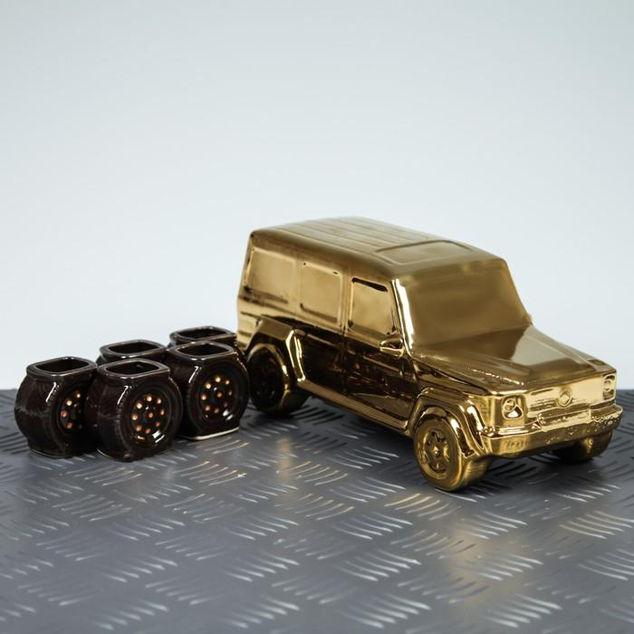 """Коньячный набор """"Гелик"""" 6 предметов, 1,5 л, золото"""