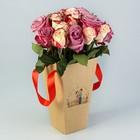 """Пакет для цветов """"Сладкая парочка"""", 9 х 15 х 27 см"""