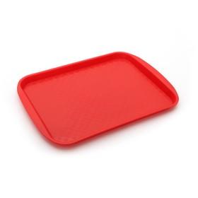 Поднос, 36,5×27 см, цвет красный