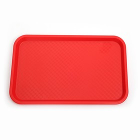 Rectangular tray 52.5 × 32.5 cm, color red.