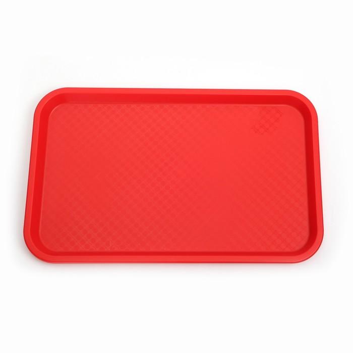 Поднос, 52,5×32,5 см, цвет красный