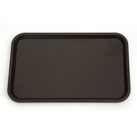 Rectangular tray 52.5 × 32.5 cm, brown.
