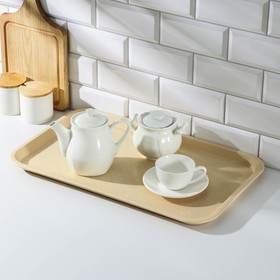 Rectangular tray 52.5 × 32.5 cm, beige color.