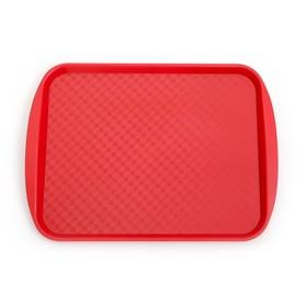 Поднос, 42×30 см, цвет красный