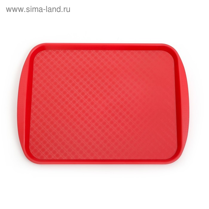 Поднос прямоугольный 42х30 см, цвет красный