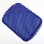 Поднос прямоугольный 42х30 см, цвет синий