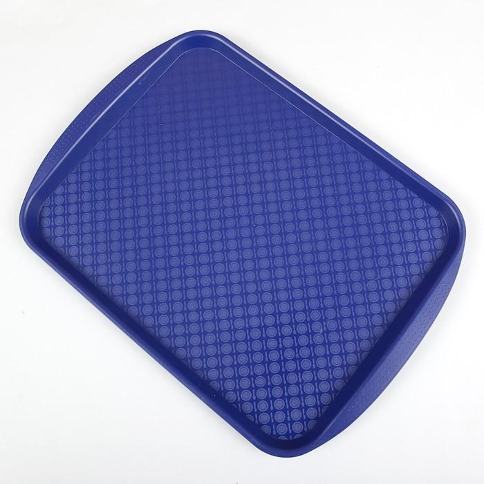 Поднос, 42×30 см, цвет синий