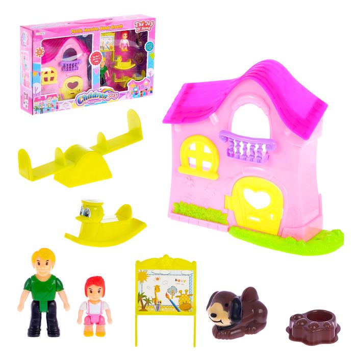 Дом для кукол «Дружная семья» с аксессуарами, МИКС