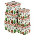 """Набор коробок 6в1 """"Рождество"""", 24,5 х 24,5 х 18 - 15 х 15 х 13 см"""